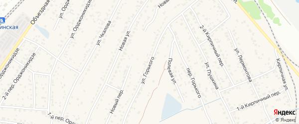 Улица Горького на карте поселка Большое Полпино с номерами домов