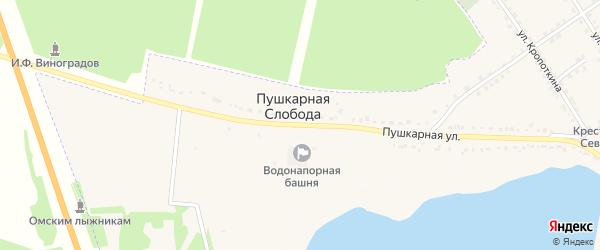 Пушкарная улица на карте деревни Пушкарной Слободы с номерами домов
