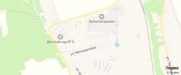 Улица Мелиораторов на карте поселка Навли с номерами домов