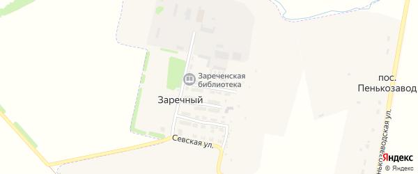 Заречная улица на карте Заречного поселка с номерами домов