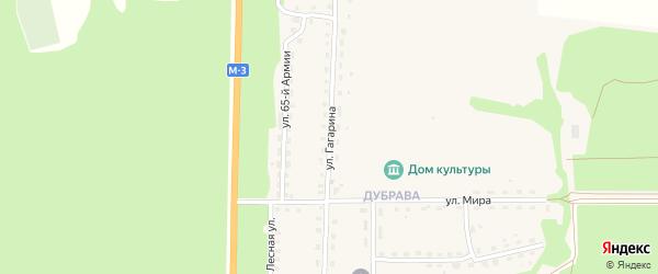 Улица Гагарина на карте Севска с номерами домов