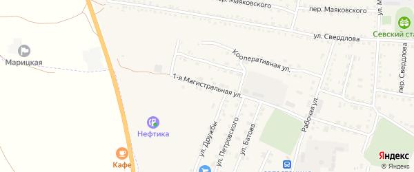 1-я Магистральная улица на карте Севска с номерами домов