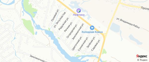 Со Дружба-2 ул Западная территория на карте Брянска с номерами домов