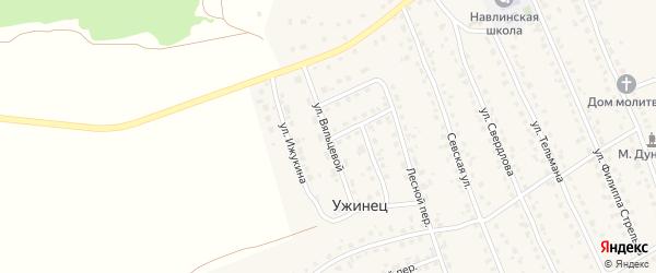 Улица Вяльцевой на карте поселка Навли с номерами домов
