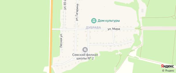 Школьный переулок на карте Севска с номерами домов