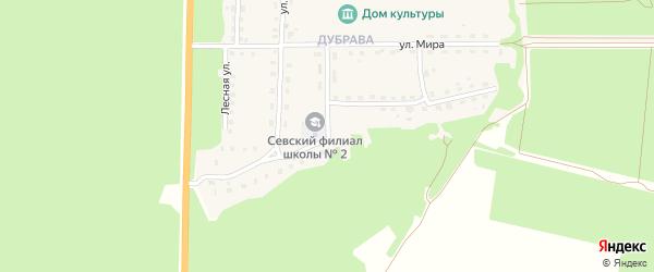 Улица Миловидова на карте Севска с номерами домов