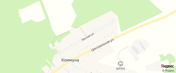 Лесная улица на карте поселка Коммуны с номерами домов