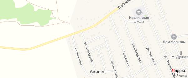 Трубчевский переулок на карте поселка Навли с номерами домов