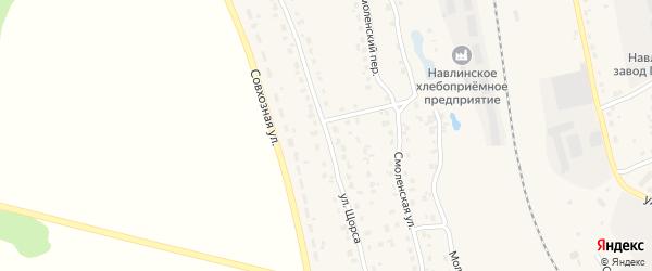Улица Щорса на карте поселка Навли с номерами домов