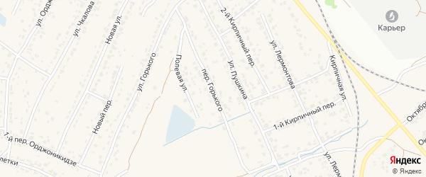 Переулок Горького на карте поселка Большое Полпино с номерами домов