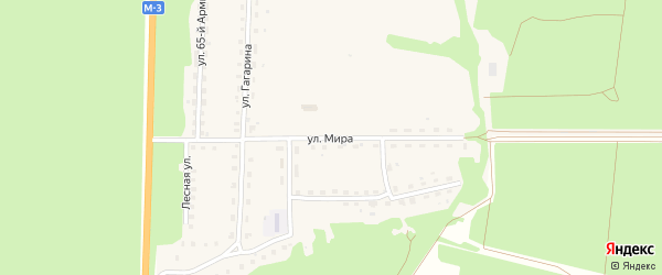Улица Мира на карте Севска с номерами домов