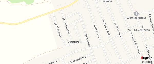 Солнечный переулок на карте поселка Навли с номерами домов