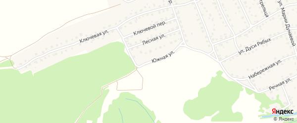 Южная улица на карте поселка Навли с номерами домов