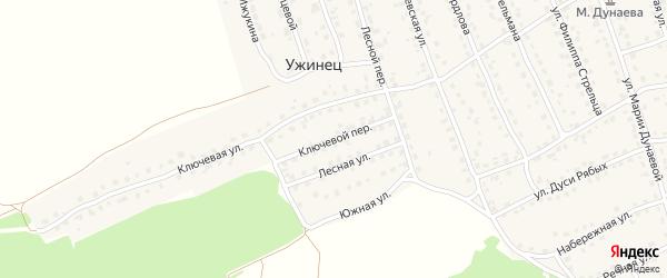 Ключевой переулок на карте поселка Навли с номерами домов