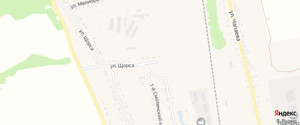 Переулок Щорса на карте поселка Навли с номерами домов