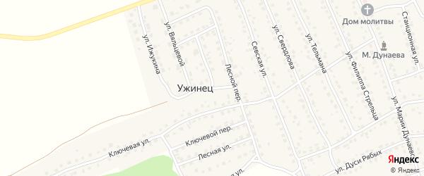 Солнечная улица на карте поселка Навли с номерами домов
