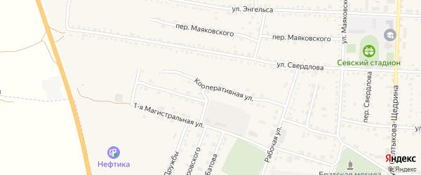 Кооперативная улица на карте Севска с номерами домов