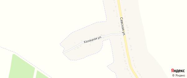 Казацкая улица на карте деревни Стрелецкой Слободы с номерами домов
