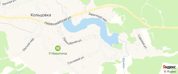 Приозерная улица на карте деревни Кольцовки с номерами домов