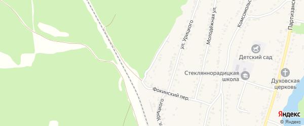 Фокинский переулок на карте деревни Стеклянной Радицы с номерами домов