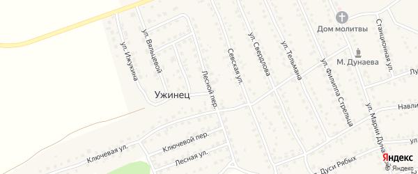 Лесной переулок на карте поселка Навли с номерами домов