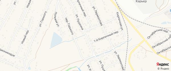 Улица Пушкина на карте поселка Большое Полпино с номерами домов
