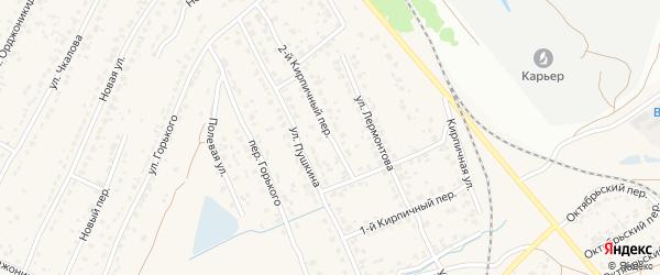 2-й Кирпичный переулок на карте поселка Большое Полпино с номерами домов