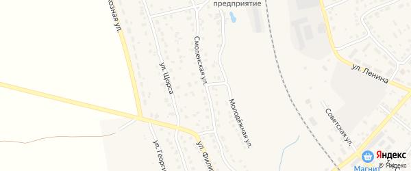 Смоленская улица на карте поселка Навли с номерами домов