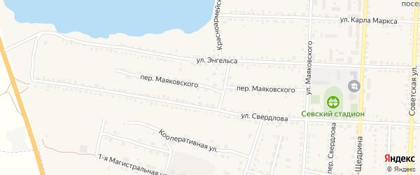 Переулок Маяковского на карте Севска с номерами домов