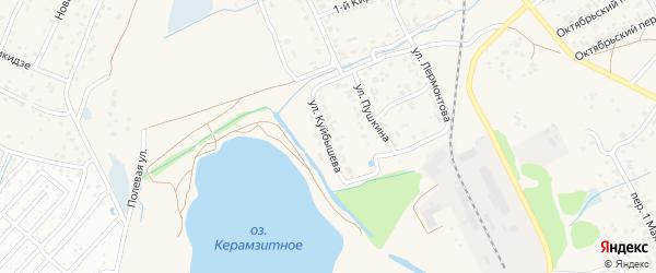 Улица Куйбышева на карте поселка Большое Полпино с номерами домов