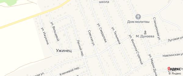 Севская улица на карте поселка Навли с номерами домов