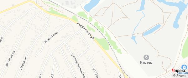 Кирпичная улица на карте поселка Большое Полпино с номерами домов