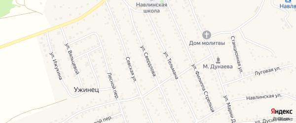 Улица Свердлова на карте поселка Навли с номерами домов