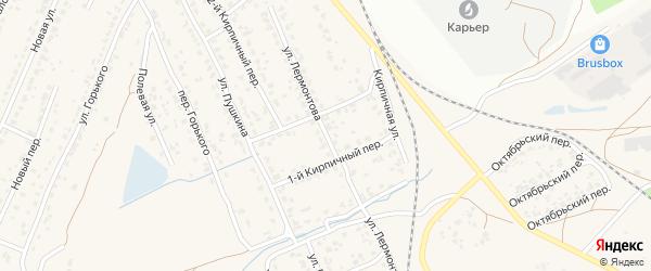 Улица Лермонтова на карте поселка Большое Полпино с номерами домов