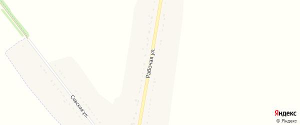 Рабочая улица на карте деревни Стрелецкой Слободы с номерами домов
