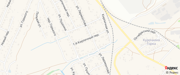 1-й Кирпичный переулок на карте поселка Большое Полпино с номерами домов