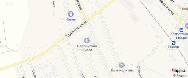 Улица Филиппа Стрельца на карте поселка Навли с номерами домов