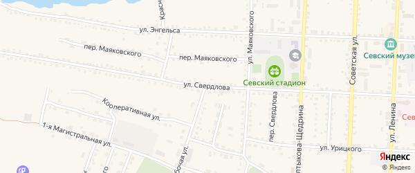 Улица Свердлова на карте Севска с номерами домов