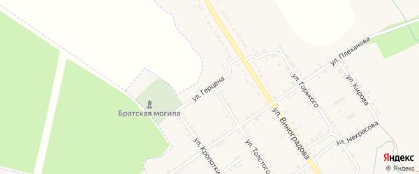 Улица Герцена на карте деревни Стрелецкой Слободы с номерами домов