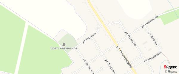 Улица Герцена на карте Севска с номерами домов