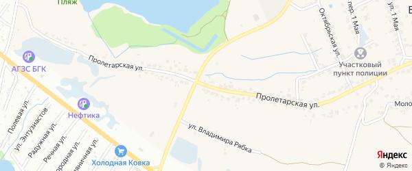 Пролетарская улица на карте поселка Большое Полпино с номерами домов