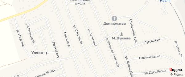Улица Тельмана на карте поселка Навли с номерами домов