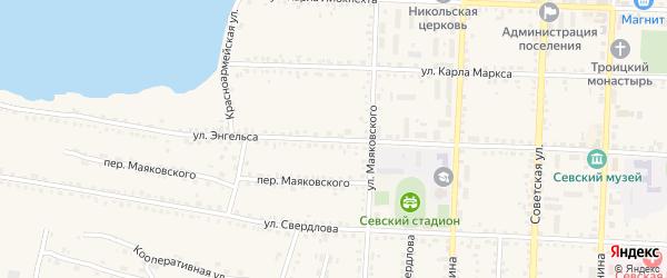 Улица Энгельса на карте Севска с номерами домов