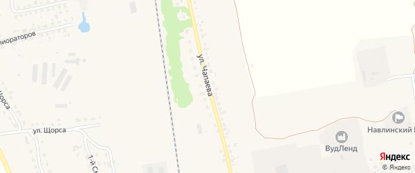 Улица Чапаева на карте поселка Навли с номерами домов