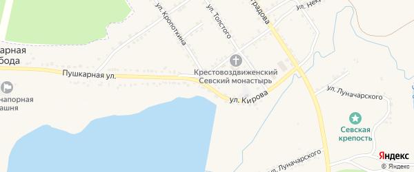 Улица Кирова на карте Севска с номерами домов