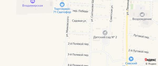 1-й Полевой переулок на карте Севска с номерами домов