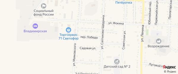 Переулок Победы на карте Севска с номерами домов
