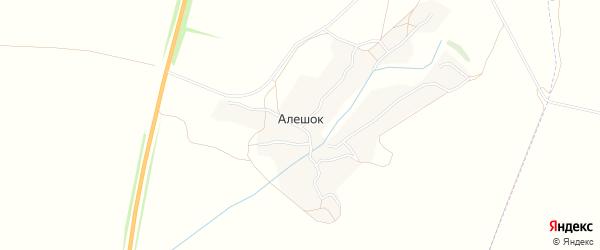 Карта деревни Алешка в Брянской области с улицами и номерами домов