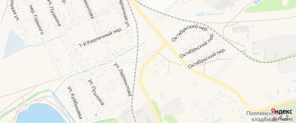 Октябрьский переулок на карте поселка Большое Полпино с номерами домов