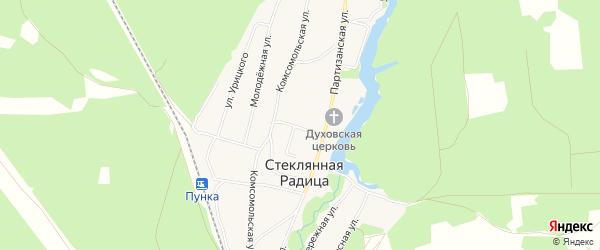 Карта деревни Стеклянной Радицы в Брянской области с улицами и номерами домов